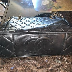 Authentic vintage Chanel with tassel crossbody